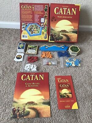 COMPLETE Catan 5th Edition Board Game 2016 Used Settlers Of Catan Game