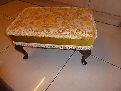Sherborne double size padded foot stool gold material