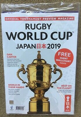 Rugby World Cup JAPAN 2019 Official Tournament Magazine - FREE GIANT WALL CHART