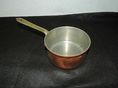 """Heavy Duty Copper Sauce Pan, Made in Portugal, 5.5"""" X 2.5"""" Deep"""