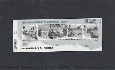 GB 2019 D Day MS  overprinted STAMPEX Operation Overlord unmounted mint