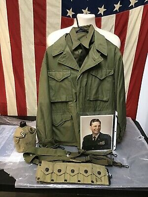 World War Two U.S. Army M43 Jacket ID to Major Walter Gunster Comes With Belt