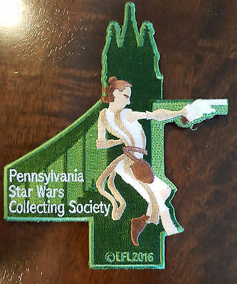 2016 Star Wars Celebration Europe Patch Pennsylvania Collecting Society Rey