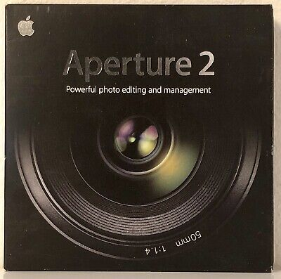 APERTURE 2 Apple Mac Photo Image Editing Management CD Like New