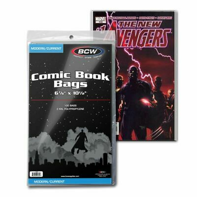 (100) BCW, Current / Modern Comic Bags - one pack
