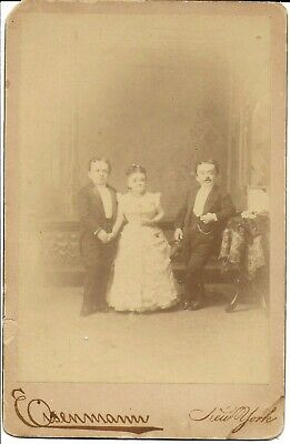 Eisenmann Cabinet Photo Midget Wedding of Count Primo Magri & Lavinia 1889