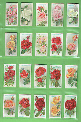 #Gg1.   Set(50)  1912  Roses  Wills  Cigarette Cards