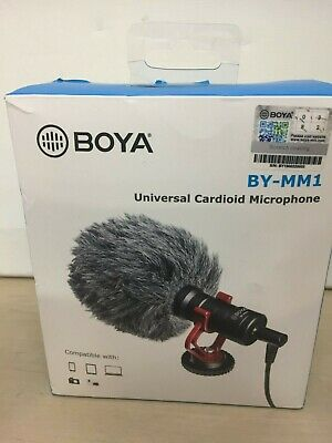 Boya BY-MM1 Universal Carboid Microphone Youtubers Vloggers Boxed 29B