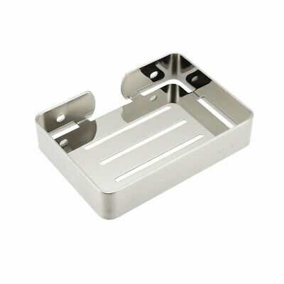 Soap Dish Holder SUS304 Stainless Steel Wall Mounted Tray (Bright Silver)