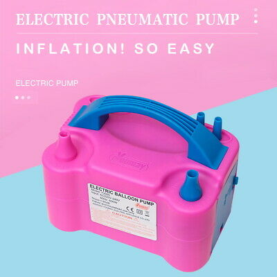 Portable High Power 2 Nozzle Color Air Blower Electric Balloon Inflator Pump UK