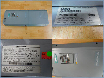 Siemens 6SE9523-0DG50, Micromaster Eco Frequency Converter 15 Kw