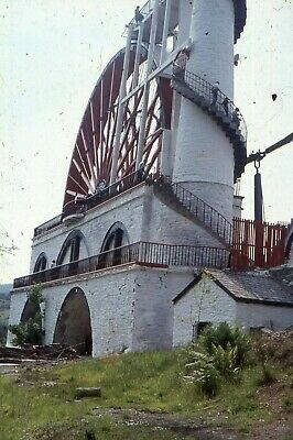"35mm SLIDES : BYGONE BRITAIN : ISLE OF MAN ""LAXEY WHEEL"" IN CLOSE-UP 1979"