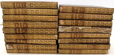 'COMPLETE WORKS OF CHARLES DICKENS'  - 17x Antique Books - Hardbacks - M26