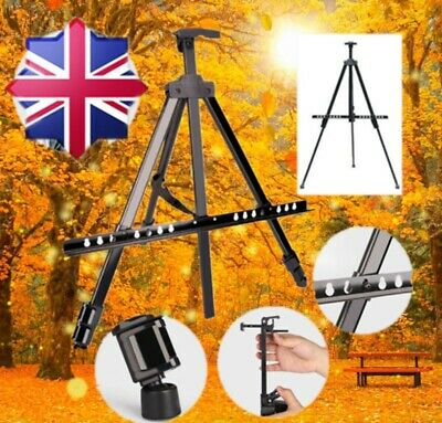 Portable Fold Telescopic Field Studio Painting Easel Tripod Display Stand w/Bag