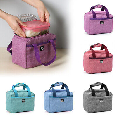 Thermal Insulated Lunch Bag Picnic Pouch Food Storage Lunch Box OxfordWaterproof