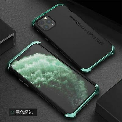 For iPhone 11 Pro Max Shockproof Cover Aluminum Metal Bumper Hybrid PC Back Case