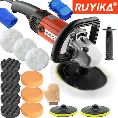 1600W Electric Car Polisher Sander Buffer Orbital Polishing Machine Kit 8 Speeds
