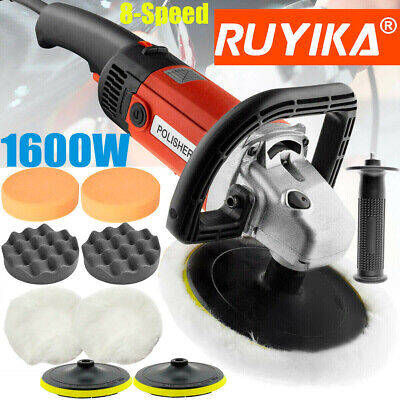 1600W Electric Car Polisher Sander Machine Kit Orbit Buffer Pads Polishing Waxer