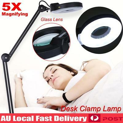 2019 5X Magnifying Lamp Daylight Magnifier Lens Desk Table Task Craft Work Bench