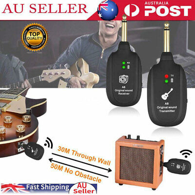 AU Electric Guitar Wireless System Transmitter Receiver Built-in Rechargeable