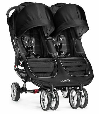 Baby Jogger City Mini Double Twin Stroller Black / Gray NEW
