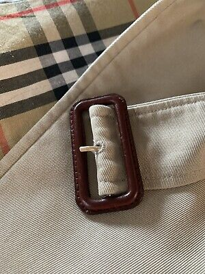 Brown Leather Buckle Replacement For Burberry Trench Belt
