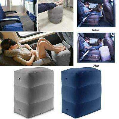Travel Footrest Inflatable Portable Pillow Plane Train Kids Bed Foot Rest Pad