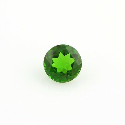 Loose .56ct Chrome Diopside Gemstone - Genuine Green Round Faceted 5.1mm