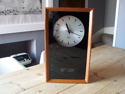 Vintage GENTS of Leicester 50`s / 60`s Electric Factory wall Clock in wood case