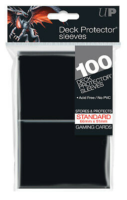 1 Pack of 100 Ultra Pro Solid BLACK MTG CCG Deck Protector Gaming Card Sleeves