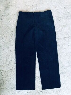 Marks & Spencer Pure Cotton Mens Regular Fit Navy Corduroy Trousers W36 L33