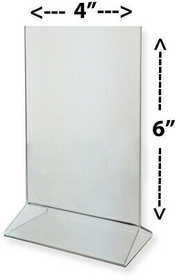 Marketing Holders Clear Acrylic Upright Sign Holder Frame Table Menu Card Stand