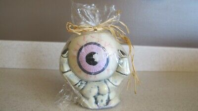 Halloween Candle Spooky Hand Holding an Eyeball - Horror Candle Vintage New