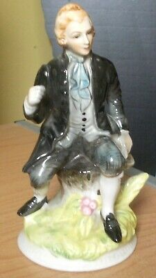 Unbranded Continental(?)  Porcelain Seated Male Figure