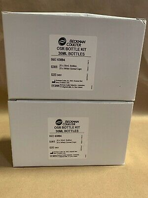 Lot Of 2 Boxes Of Beckman Coulter Osr Bottle Kit 30Ml Bottles 63094 Free Ship