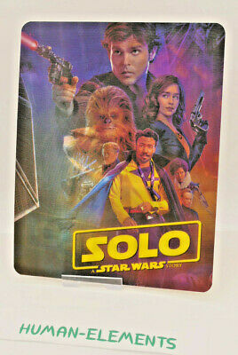 SOLO STAR WARS STORY - 3D LENTICULAR Flip Magnet Cover TO FIT bluray steelbook