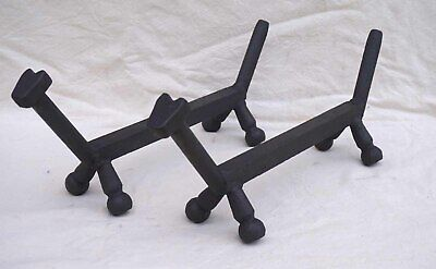French Art Deco Modernist Wrought Iron Dachshund Fire Dog Andiron 1930