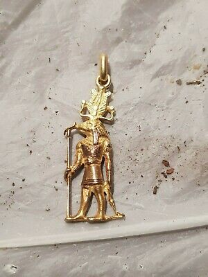 Rare Antique Ancient Egyptian pure Gold Hanger God Sobek protection 1780-1690BC