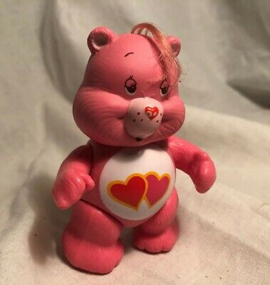 Vintage 1980's Care Bears Poseable Figures ~ LOVE-A-LOT BEAR