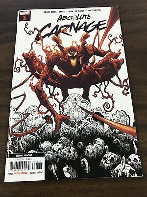Absolute Carnage #1 (2019) Ryan Stegman Second Print Donny Cates Marvel Comics
