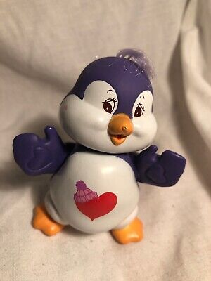 Vintage 1980's Care Bears Poseable Figures ~ COSY HEART PENGUIN COUSIN