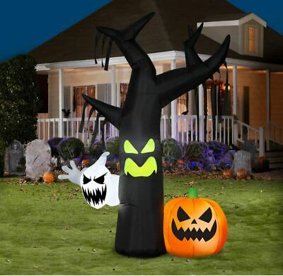 7 ft Halloween Airblown Inflatable Ghostly Tree Decoration Outdoor Decor Haunted