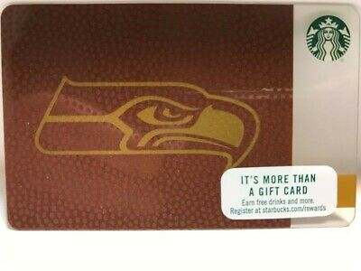 Starbucks 2017 SEATTLE SEAHAWK Card, New, pin intact, no swipes! NFL Hologram