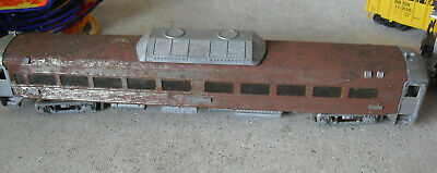 Vintage HO Scale Athearn Metal Passenger Car Weathered