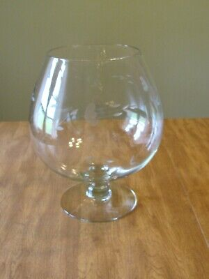 Princess House Heritage Crystal Brandy Snifter Punch Bowl