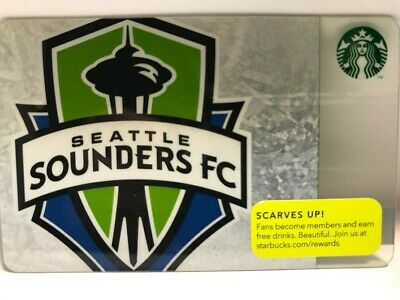 Starbucks 2013 SEATTLE SOUNDERS FC Card, New, pin intact, no swipes!
