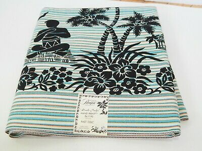"Vintage Paragon ""South Pacific"" TIKI Tablecloth Great Graphics New Old Stock NOS"