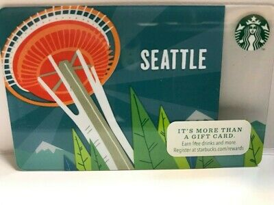 2014 Starbucks SEATTLE SPACE NEEDLE card, No swipes,pin intact, NEW