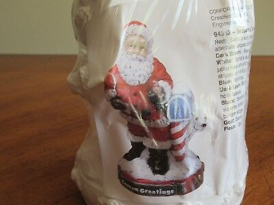 Creative Crafts Christmas Season Greetings Santa Mail Ready Fun to paint Plaster