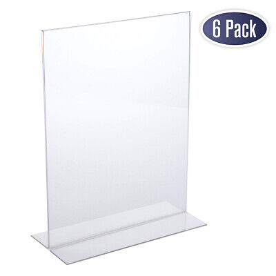 Acrylic Sign Holder 8.5 x 11 - Acrylic T Shape Table Top Display Stand, Double
